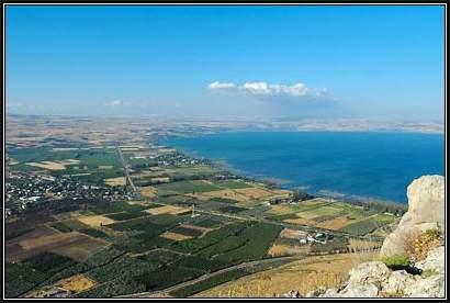 Plain-of-Gennesaret-from-southwest,-tb053005508-bibleplaces