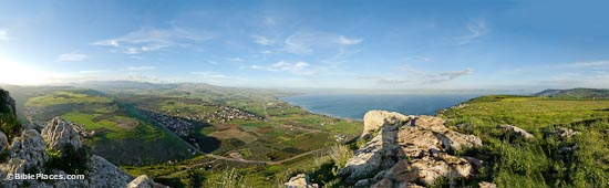 Sea of Galilee and Plain of Gennesaret panorama, tb03250771p