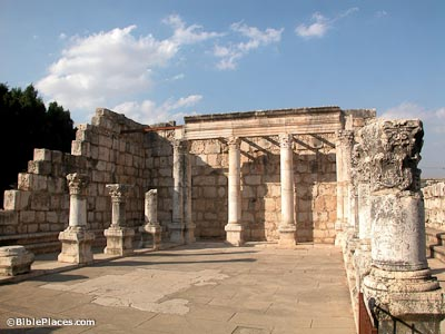 Capernaum-synagogue-interior,-tb102702014-bibleplaces