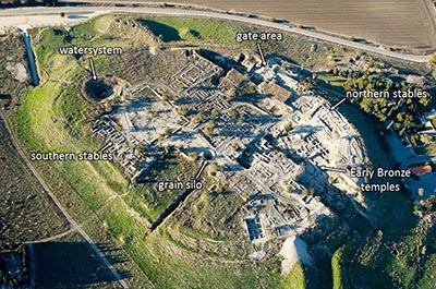 Megiddo aerial from southeast, tb121704999-labeled-wr